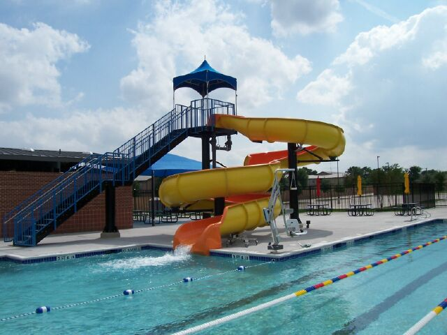 Large water slide